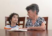 Hispanic Family Studying The Holy Bible