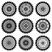 pic of steampunk  - Vector gears set in the style of steampunk - JPG