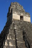 Closeup of Mayan temple ruins, Tikal, Guatemala