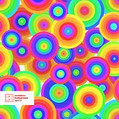 Abstract Seamless Circles Pattern. Vector