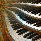 picture of abstract painting  - abstract musical background piano keys close up - JPG