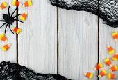 Halloween wooden background