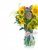 Vase of fall autumn flowers