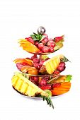 tiered bowl of fruit