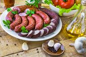 Country Table Plate Sausage Spices