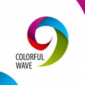 Vector Icon Colorful Wave Of Bands