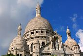 Sacre Coeur Basilica On Montmartre, Paris, France.