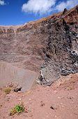 impressive view of crater of Vesuvius volcano, Campania in Italy