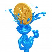 Yen Coin Splashing Head