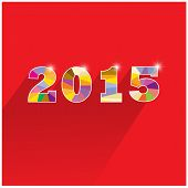Creative Happy New Year 2015 Text Design.