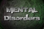 Mental Disorders Concept