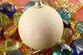 New Year (christmas) Balls With Stones Set, Holiday Invitation Card