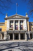 pic of drama  - Drama Theatre of Oslo the main entrance on a clear sunny day - JPG