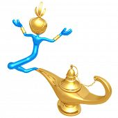 Djinn Escaping Magic Lamp