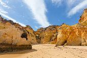 Rocky Cliffs On The Coast Of The Atlantic Ocean