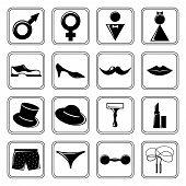 Gender icons set black