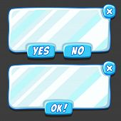 Game ice menu interface panels