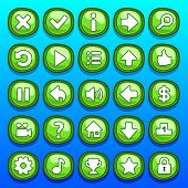 Game green buttons set