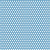 Honeycomb seamless pattern in blue color
