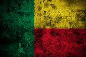 Grunge Flag Of Benin With Capital In Porto-novo