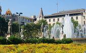 Placa Catalunya Fountains