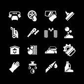 Set Icons Of Car Wash