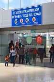 Entrance of Quitumbe Bus Terminal in Quito, Ecuador