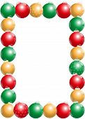 Christmas Balls Frame Vertical