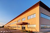pic of building exterior  - Exterior of industrial building on a sunny day - JPG