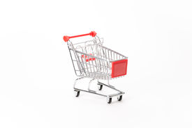 pic of caddy  - Caddy for shopping in supermarket on white background - JPG
