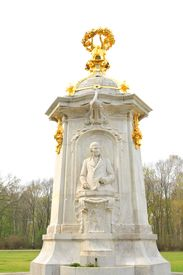 image of mozart  - Architectural detail of the monument to Haydn - JPG