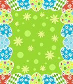 foto of easter card  - Happy Easter background card colorful vector illustration - JPG