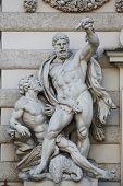 VIENNA, AUSTRIA - OCTOBER 10: Hercules statue at the Royal Palace Hofburg in Vienna, Austria on October 10, 2014.