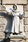 VIENNA, AUSTRIA - OCTOBER 10: Carl Kundmann: Evangeliser, on the facade of the Neuen Burg on Heldenplatz in Vienna, Austria on October 10, 2014.