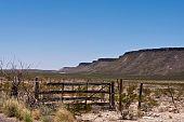 Gate in desert