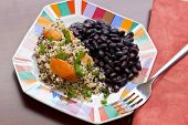 pic of scallion  - Healthy nutty Quinoa and Carrot Salad and scallions with black beans - JPG
