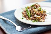 Red Quinoa With Sugar Snap Peas