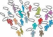 People Meeting Social Media Network Colorful Speech