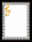 Ebony and Ivory Piano Poster