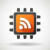 Cpu Icon With A Rss Feed Dign