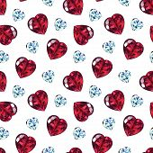 Seamless Pattern Of Precious Stones