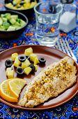 Mackerel With Garlic And Lemon Marinated. Moroccan Dish
