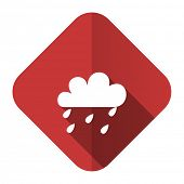 rain flat icon waether forecast sign