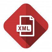 xml file flat icon