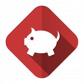 piggy bank flat icon