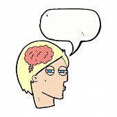 cartoon man thinking carefully with speech bubble