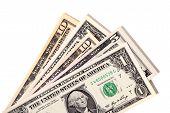 Fan Of Various Us Dollar Bills
