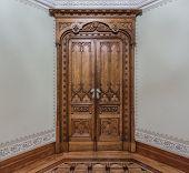 Vintage Wooden Door. Middle Of The Century.