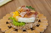 Crispy Sandwich With Egg And Bacon