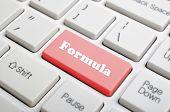 Red formula key on keyboard